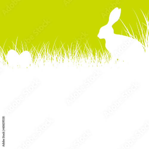 Bunny Meadow & Easter Eggs White/Green