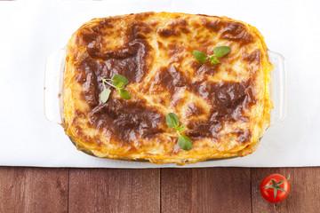 Fresh homemade Lasagne
