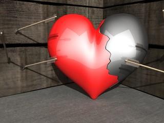 Gebroken hart, alle pijlen mis