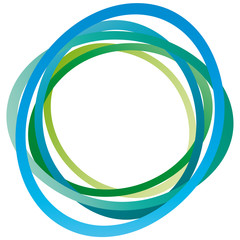 Kreis - abstrakte Ringe - blau - grün