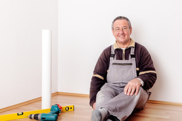 Man is finished with the home improvement and looks forward