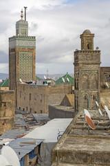 Moscheen in der Stadt Fes in Marokko