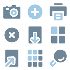 Image viewer icons, blue solid series