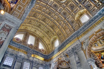Ceiling in the Vatican basilica
