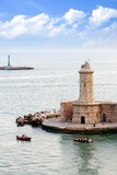 Breakwater and lighthouse in Livorno