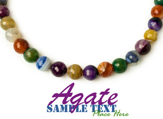 necklace of multicolored agate