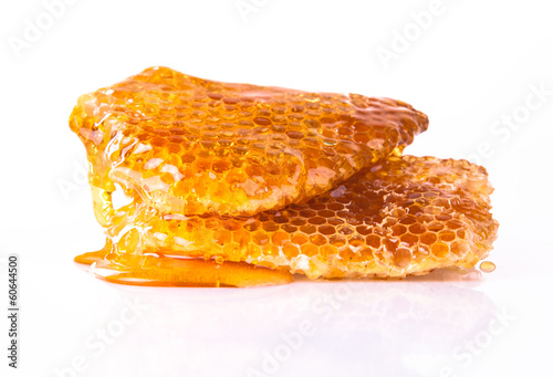 Honeycomb, isolated on white background