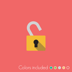Unlock - FLAT UI ICON COLLECTION