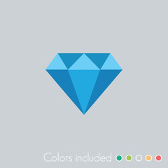 Diamond - FLAT UI ICON COLLECTION