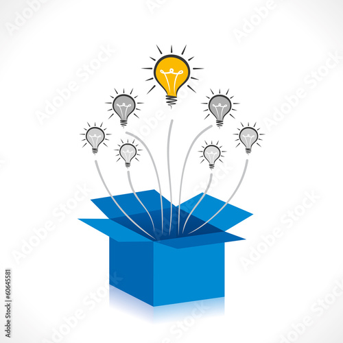 new idea come out of the box concept vector