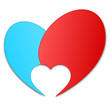 Herz Logo blau rot