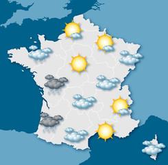 Carte de prévision météo vectorielle 1