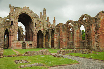 Melrose Abbey,  Scottish Borders, UK.
