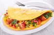 omelette and vegetables
