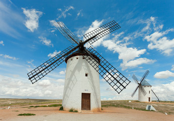 Medieval Windmills of Campo de Criptana,  Spain.