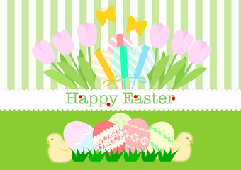Easter background green