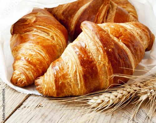 Plexiglas Brood Fresh Croissants