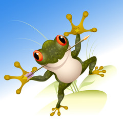The lucky frog