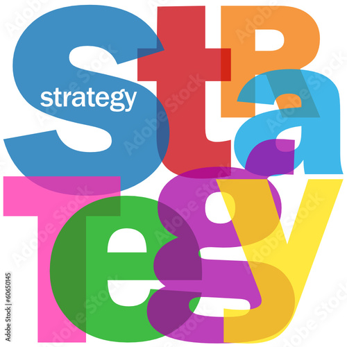 """STRATEGY"" Letter Collage (business vision solutions innovation)"