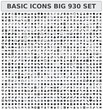 Basic icons 930 set