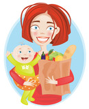 Mother shopper portrait
