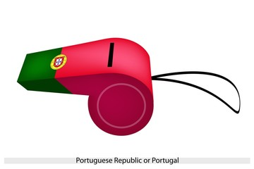 A Whistle of The Portuguese Republic Flag