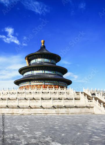 Foto op Plexiglas Bedehuis temple of heaven with blue sky, Beijing, China