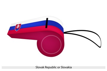 A Whistle of The Slovak Republic Flag
