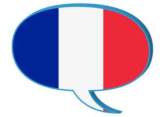 Sprechblase Französisch