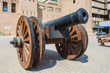 old cast-iron cannon near the old fortress