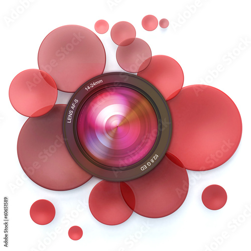 Photographic red background