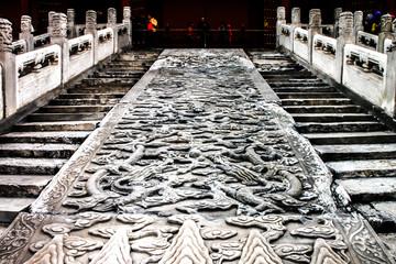 dragon stair at forbidden city, Beijing, China