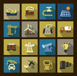 vector industry icons set