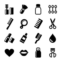 Cosmetics Perfume Icons Set