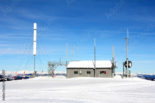 Weather station in snow