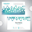 Universal greenish medical laboratory business card.