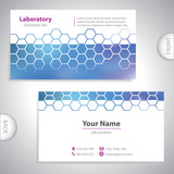 Universal dark blue medical laboratory business card.