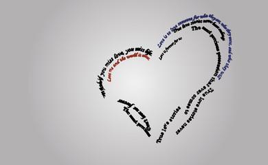 Letter's heart