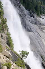Nevada falls in the Yosemite national park