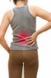 Attractive female  suffers from backache.Low back pain