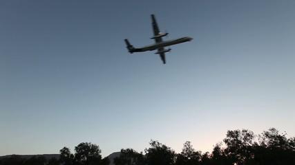plane is landing
