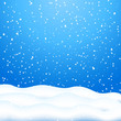Falling Snow. Blue Winter Background - 60652902