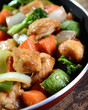 Wok with chicken and vegetables