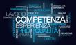 Competenza esperienza lavoro nube di parola animazione