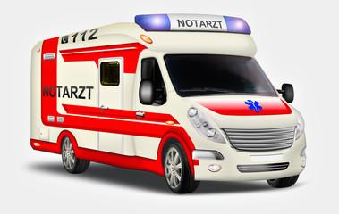 Krankenwagen, Kranketransport, Notarzt freigestellt