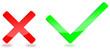 Kreuz Haken rot grün  #140124-svg01