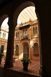 Mudejar Pavilion in Seville, inside, Spain