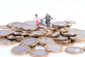 Kostenfaktor Familie und Kinder - Euromünzen