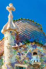 BARCELONA - DECEMBER 16: The facade of the house Casa Battlo (al