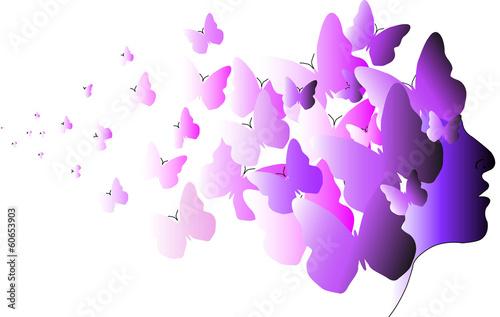 Leinwandbild Motiv profilo farfalle 2